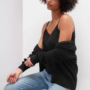 Banana Republic Linen Blend Sweater Tank in Black